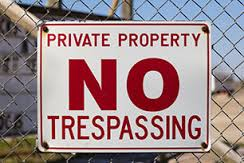 trespassing laws for security